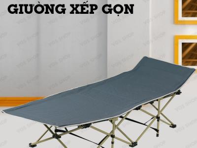 Giường xếp gọn Hahoo – Gọn nhẹ mang đi xa – Tải trọng lên đến 100kg – Vải bố chống nóng