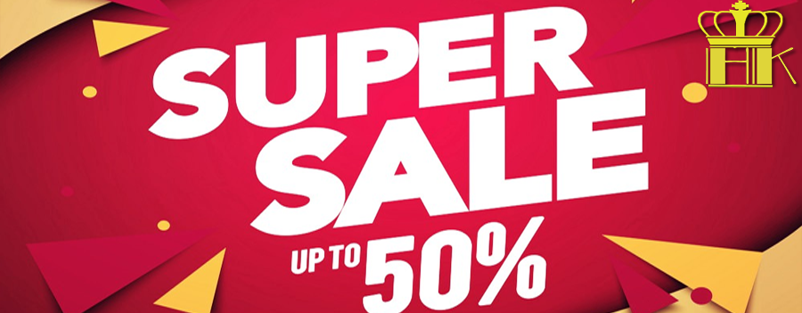 Sale off to 50% with all product